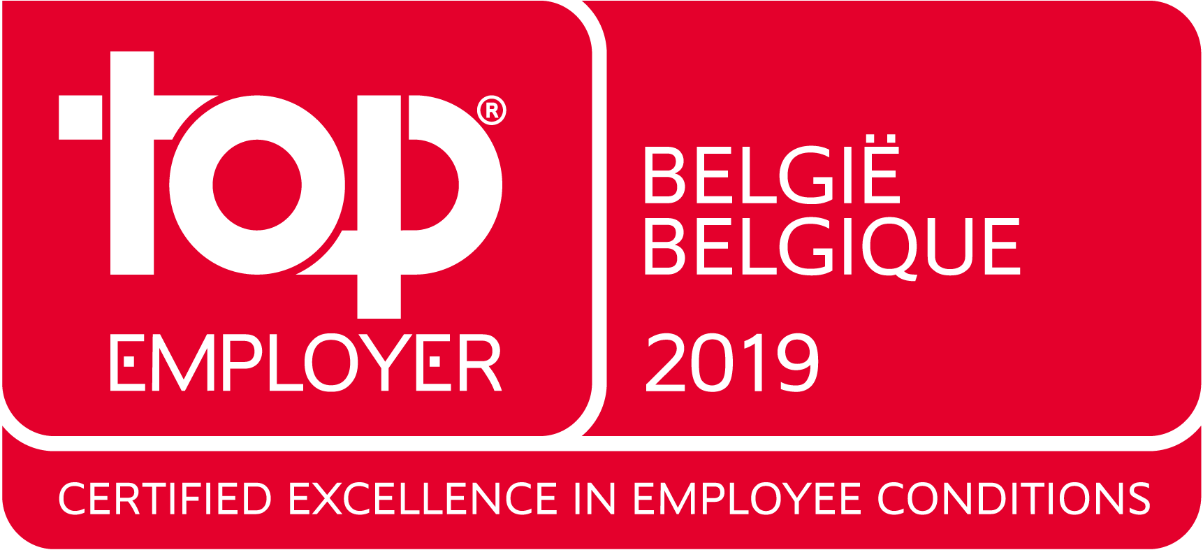 Top Employer Belgium 2019